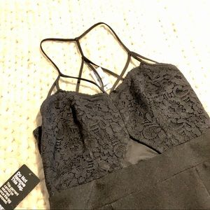 NWT Express strappy dress with lace and peekabo